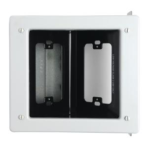 Pass & Seymour 2 Gang Recessed Metal Commercial TV Media Box, White