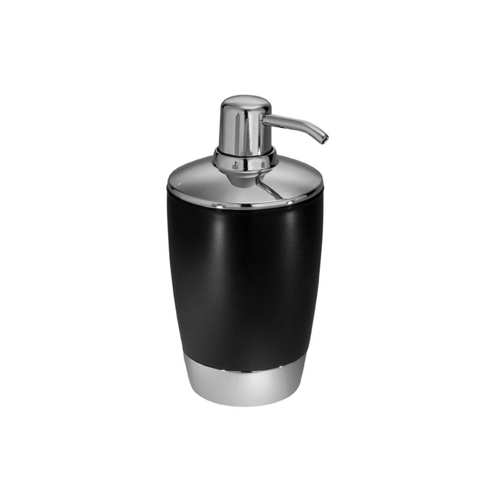 Aria Soap Pump in Black & Chrome
