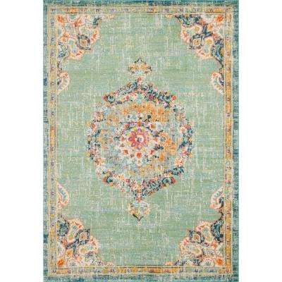 Penrose Alexis Green 10 ft. x 14 ft. Area Rug