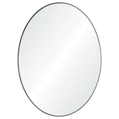 Newport 40 in. x 30 in. Framed Wall Mirror