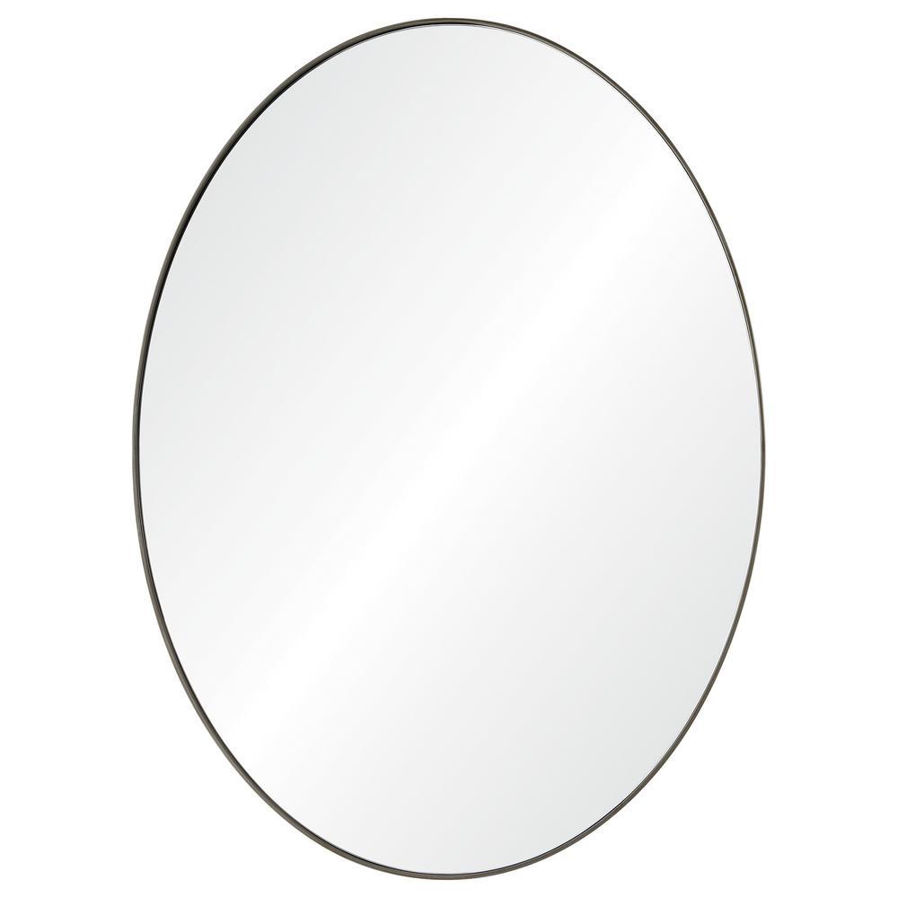 Newport 40 in. x 30 in. Framed Wall Mirror
