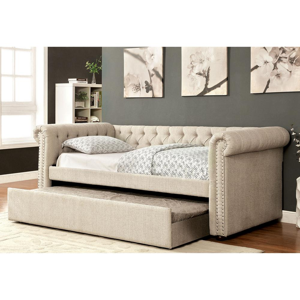living room day bed venetian worldwide beige trundle daybed v cm1027bg 16488