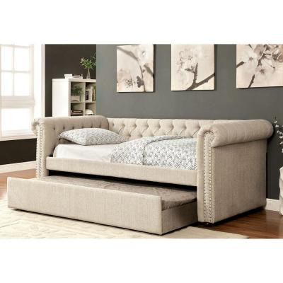 Leanna Beige Trundle Daybed