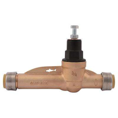 3/4 in. Brass Slip Pressure Regulating Valve EB45-SDSB