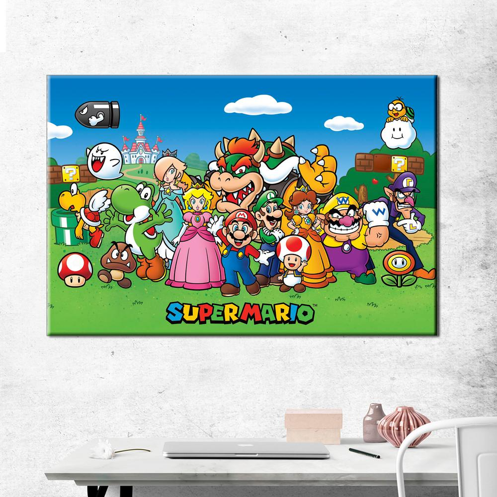 pyramidamerica 24 in x 36 in super mario animated gallery wrapped