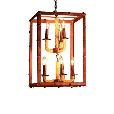 Edison Rivka 8-Light Copper Chandelier