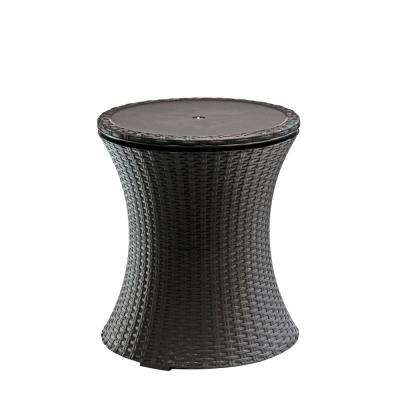 Resin Rattan Drink Cooler Patio Table