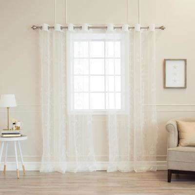 84 in. L Polyester Sheer Chandelier Burnout Curtains (2-Pack)