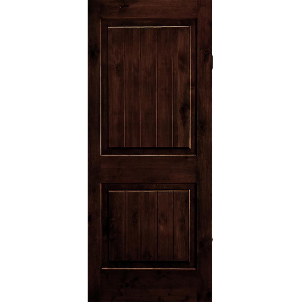 Krosswood Doors 30 In X 80 In Rustic Knotty Alder 2: Krosswood Doors 30 In. X 80 In. Rustic Knotty Alder Square