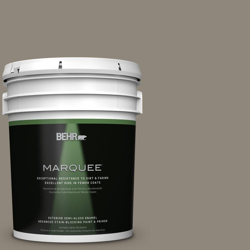 5 gal. #T16-08 Fifth Olive-Nue Semi-Gloss Enamel Exterior Paint