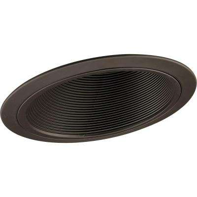 6 in. Antique Bronze Recessed Baffle Trim for Sloped Ceilings