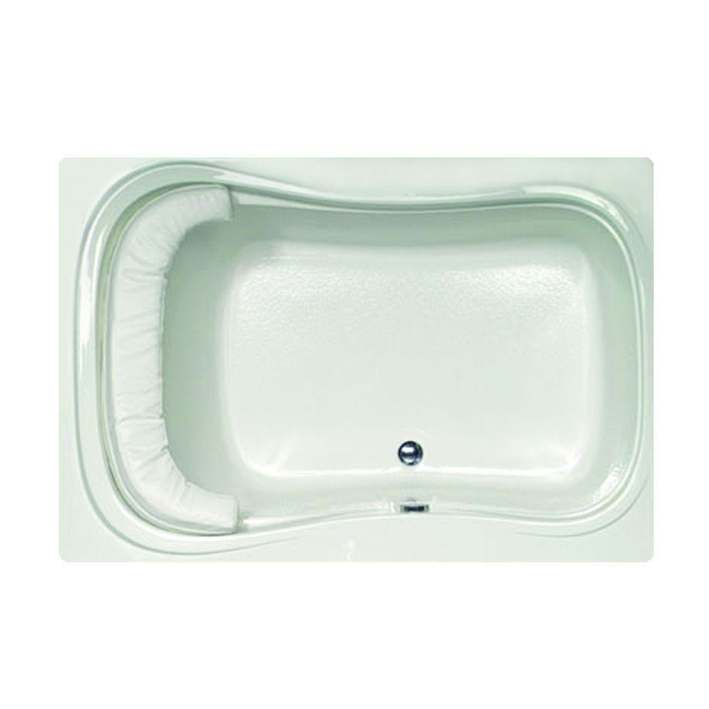 Lancing 5 ft. Reversible Drain Air Bath Tub in White