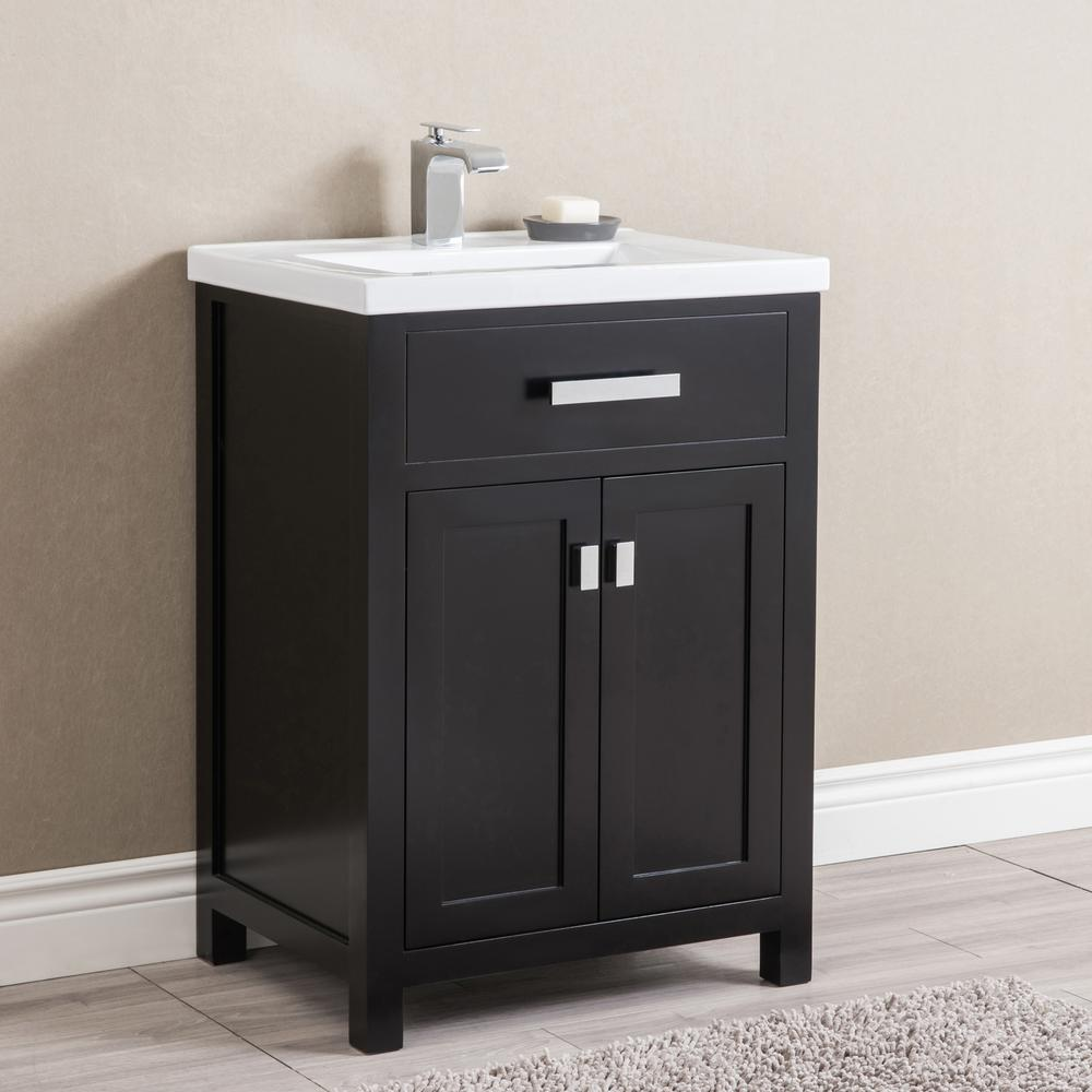 Water Creation Myra 24 In Bath Vanity In Espresso With Integrated Ceramics Vanity Top And Sink Myra 24e The Home Depot