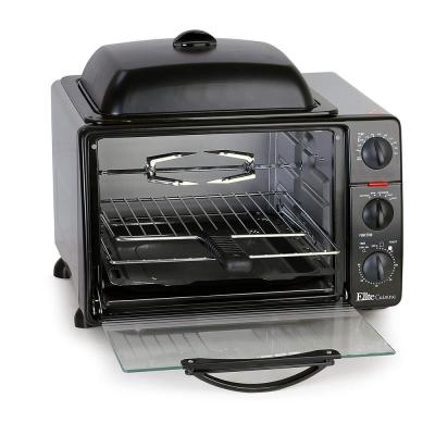 Platinum 1500 W 6-Slice Black Toaster Oven with Broiler