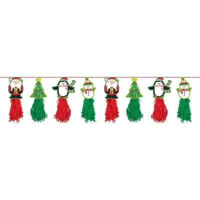 8 ft. Christmas Tassel Garland (2-Pack)