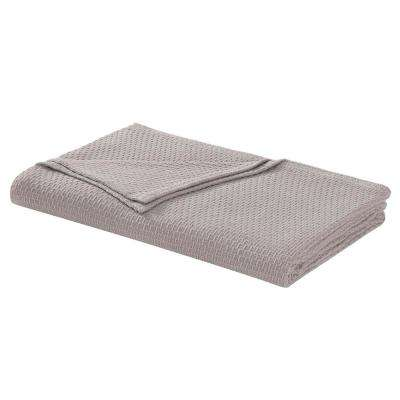Cotton Taupe Twin Blanket