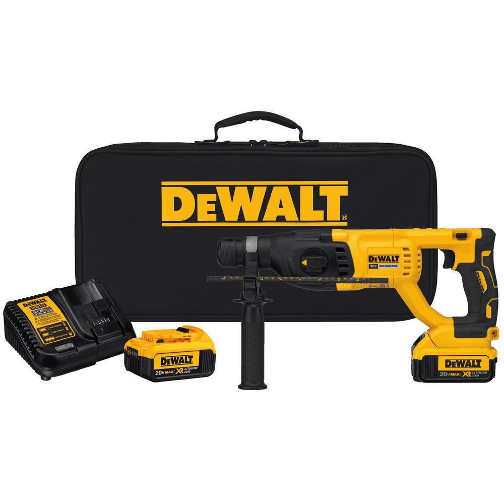 Dewalt 20-Volt MAX XR Li-Ion 1 inch Cordless SDS-plus Brushless D-Handle Concrete/Masonry Rotary Hammer with... by DEWALT
