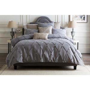 Alisa Medium Gray Full/Queen Duvet Set