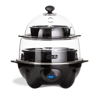 Deluxe 12-Egg Black Egg Cooker with Automatic Shut-off