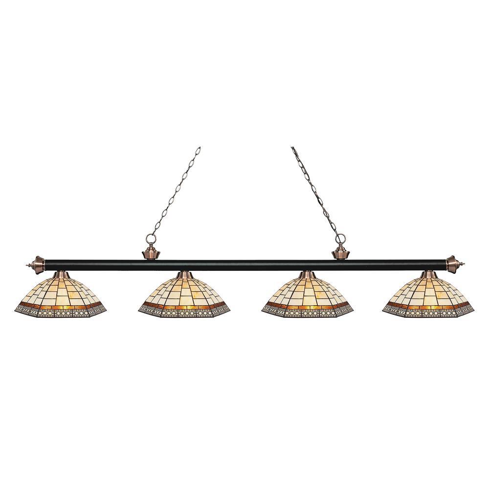 Filament Design Porter 4-Light Matte Black And Antique
