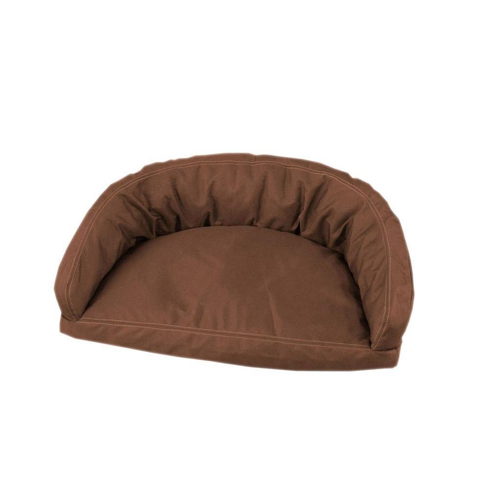 Carolina Pet Company Brutus Tuff Semi Circle Small Chocolate Lounger Bed