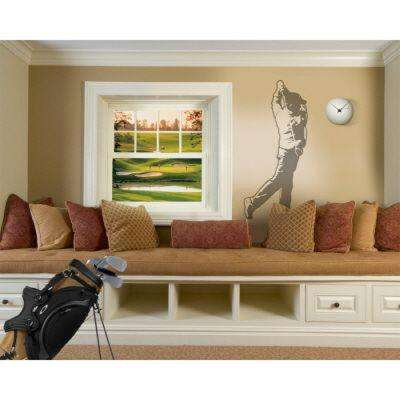 54 in. x 22 in. Golfer Wall Decal