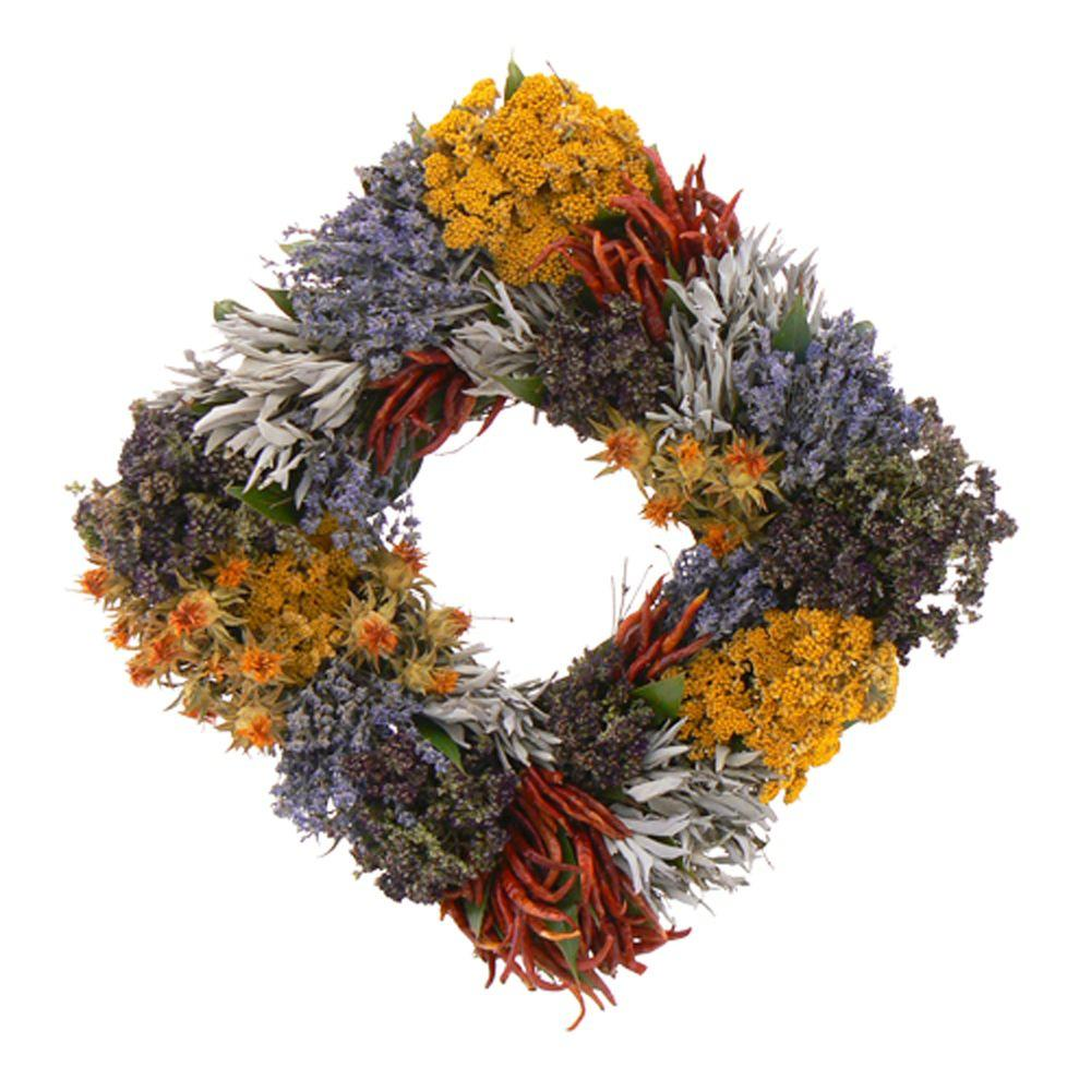 The Christmas Tree Company Kitchen Essentials Square 17 in. Dried Floral Wreath-DISCONTINUED