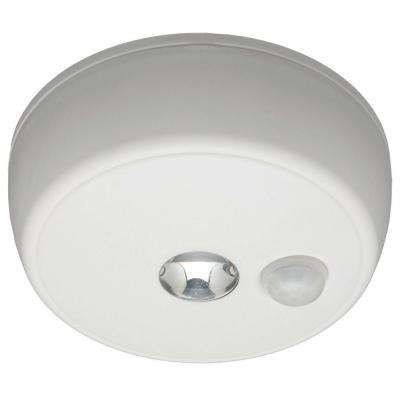 Indoor/ Outdoor 100 Lumen Battery Powered Motion Activated LED Ceiling Light, White