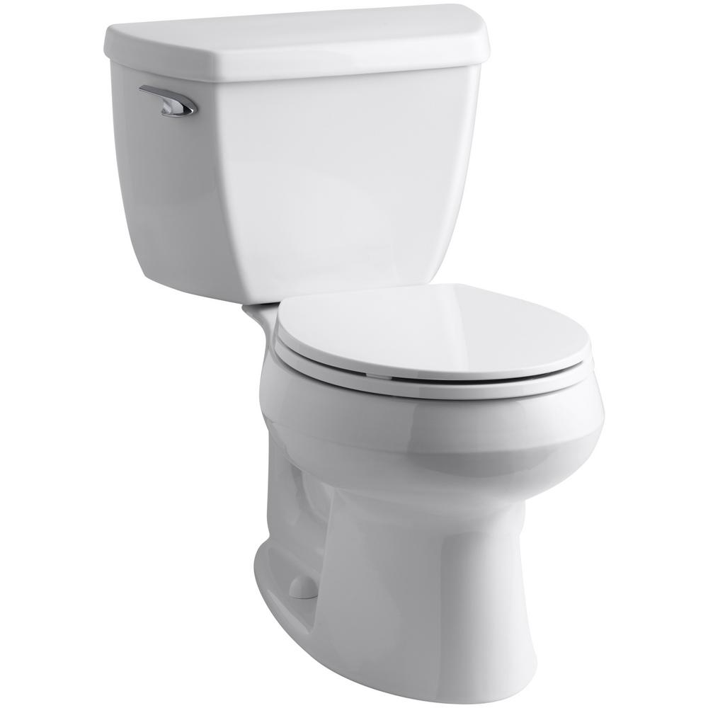 KOHLER Wellworth Classic Complete Solution 2-piece 1.28 GPF Single Flush Round Toilet in White, Seat Included (3-Pack)