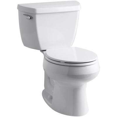 Wellworth Classic Complete Solution 2-piece 1.28 GPF Single Flush Round Toilet in White, Seat Included (3-Pack)
