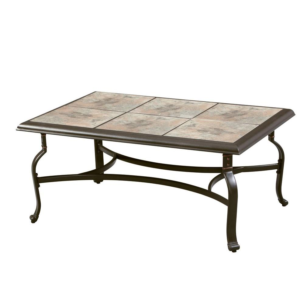 Favorite Hampton Bay Belleville Tile Top Patio Coffee Table-FTS80721 - The  TZ83