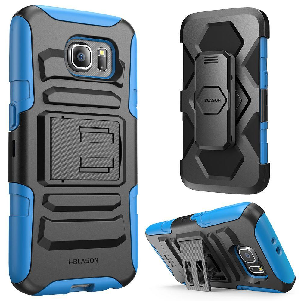 Rugged Holster Case for Galaxy S6, Prime Blue