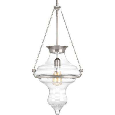Cazbah Collection 1-light Brushed Nickel Pendant