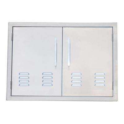 Signature Series 30 in. 304 Stainless Steel Double Access Door with Vents