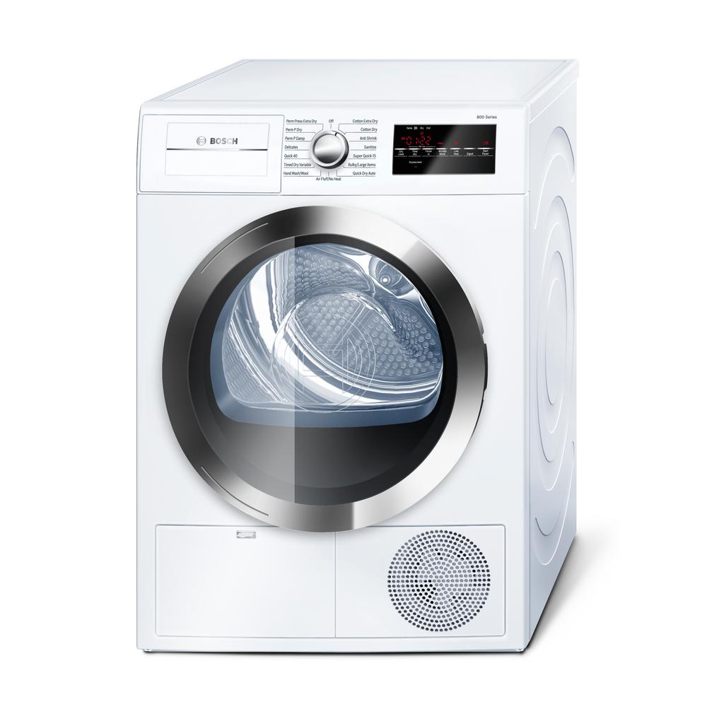 800 Series 24 in. 4 cu. ft. White with Chrome Accents Electric
