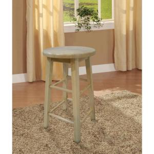 Linon Home Decor 24 In Round Wood Bar Stool 98100nat 01
