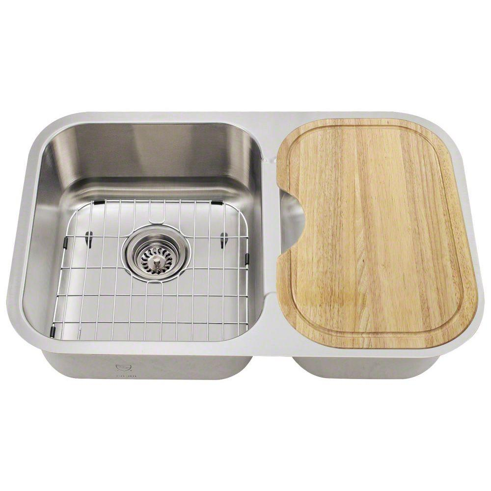Kitchen Sink Keeps Backing Up: Polaris Sinks All-in-One Undermount Stainless Steel 28 In