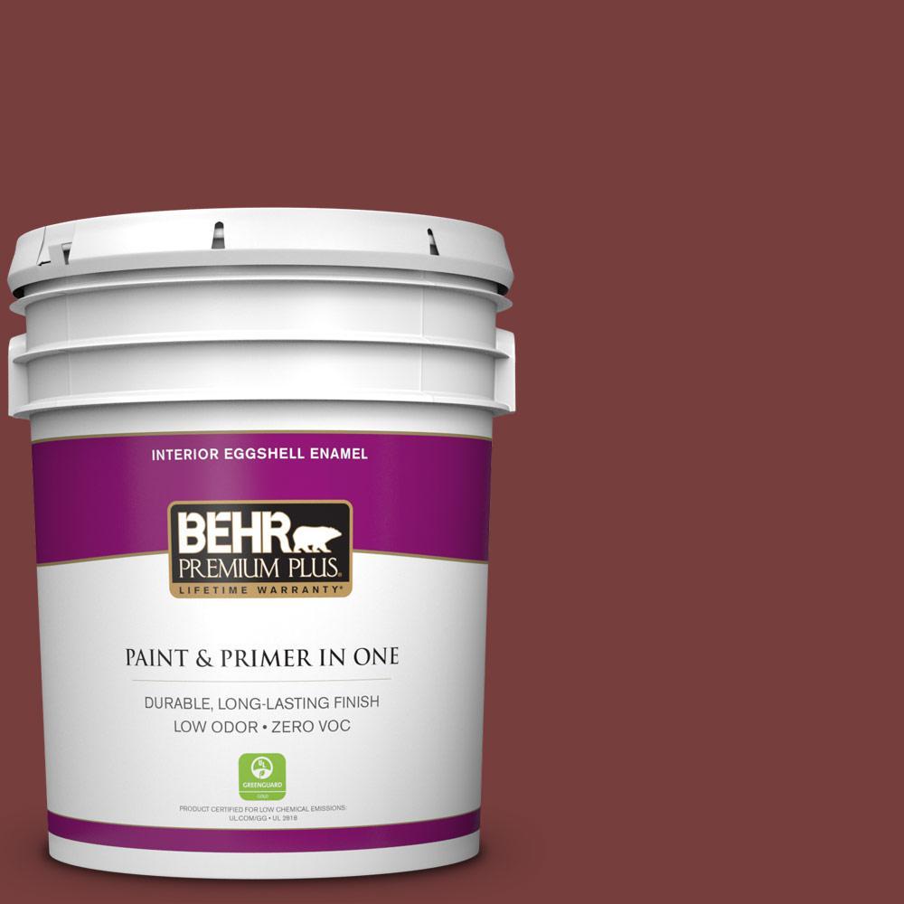 5 gal. #200F-7 Wine Barrel Zero VOC Eggshell Enamel Interior Paint