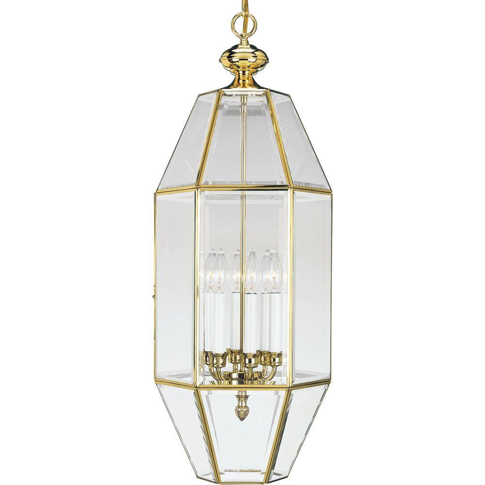Progress Lighting 6-Light Polished Brass Foyer Pendant-DISCONTINUED