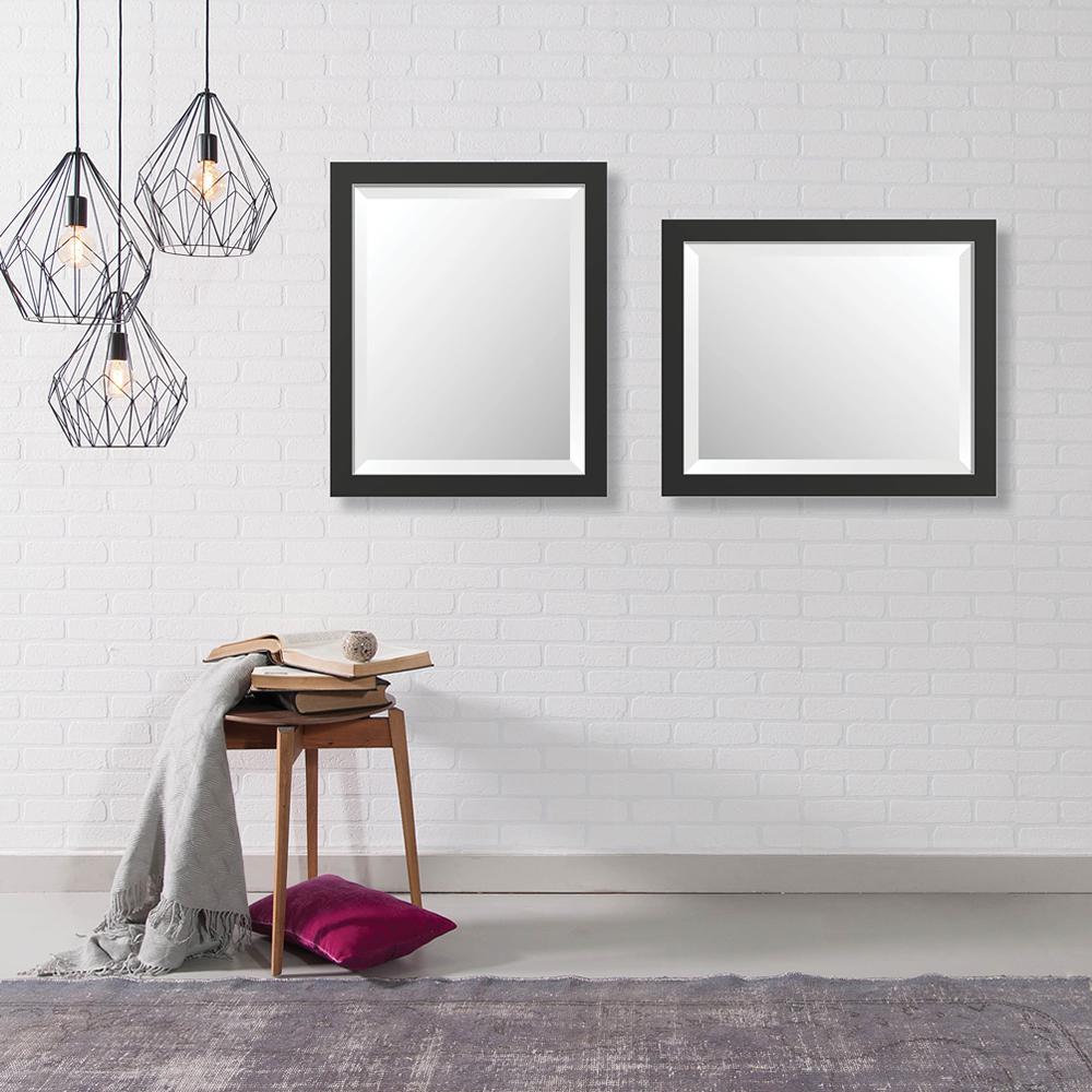 16 in. x 20 in. Modern Framed Bevel Mirror