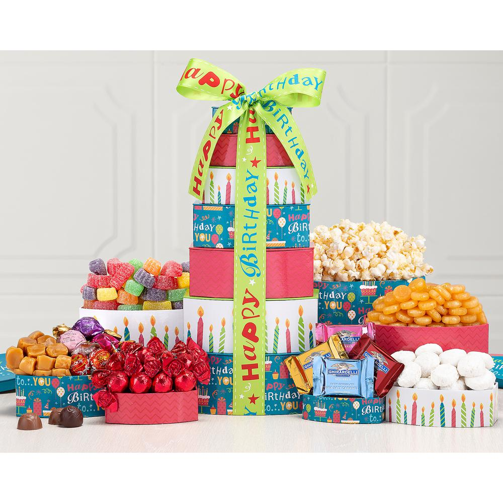 Wine Country Gift Baskets Tower Best Wishes Happy Birthday Present 271