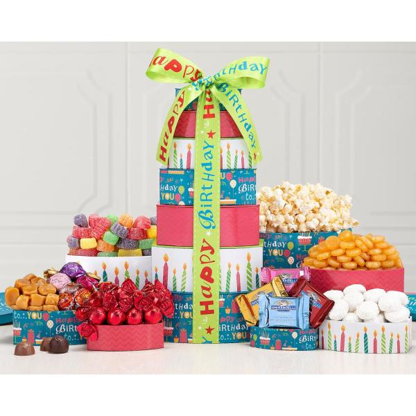 Wine Country Gift Baskets Tower Best Wishes Happy Birthday Present