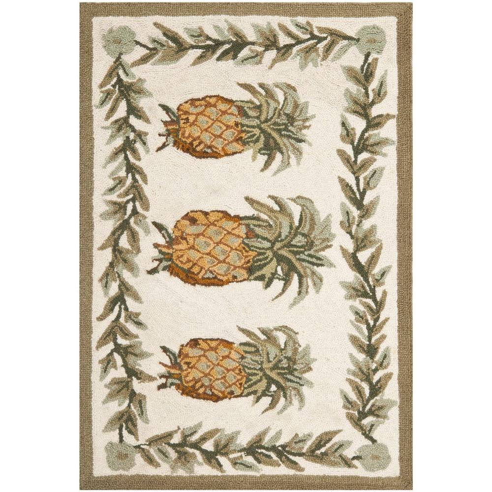Safavieh Chelsea Ivory/Green 2 ft. 6 in. x 5 ft. Area Rug