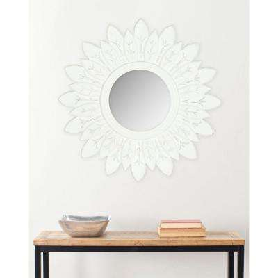 Sun King 30 in. x 30 in. solid Wood Framed Mirror