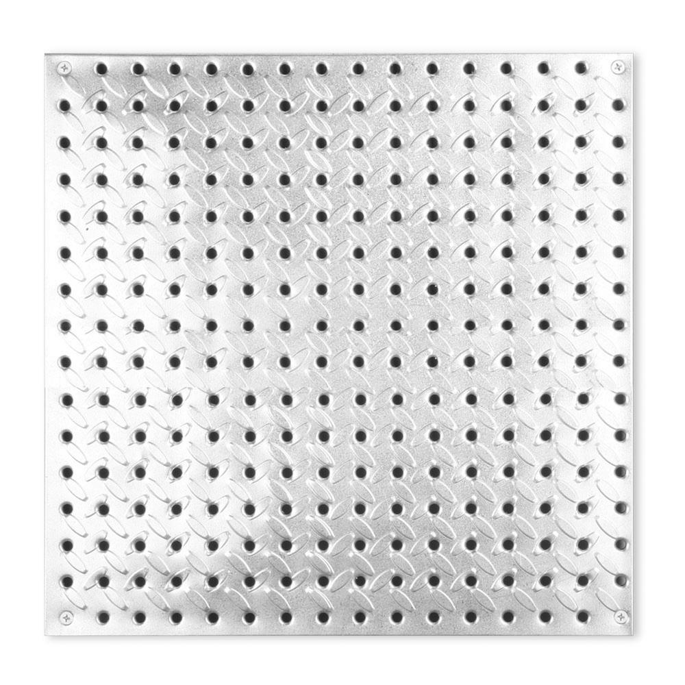 16 in. x 16 in. Diamond Plate Steel Pegboard