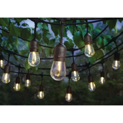 24-Light Indoor/Outdoor 48 ft. String Light with S14 Single Filament LED Bulbs