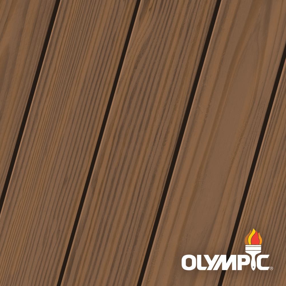 Olympic Maximum 1 Gal Tobacco Semi Transparent Exterior