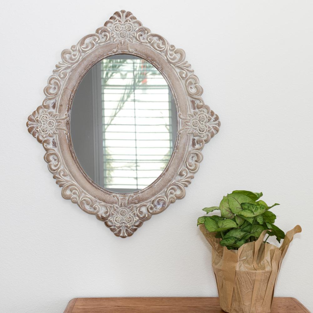Vintage Magnolia Mirror