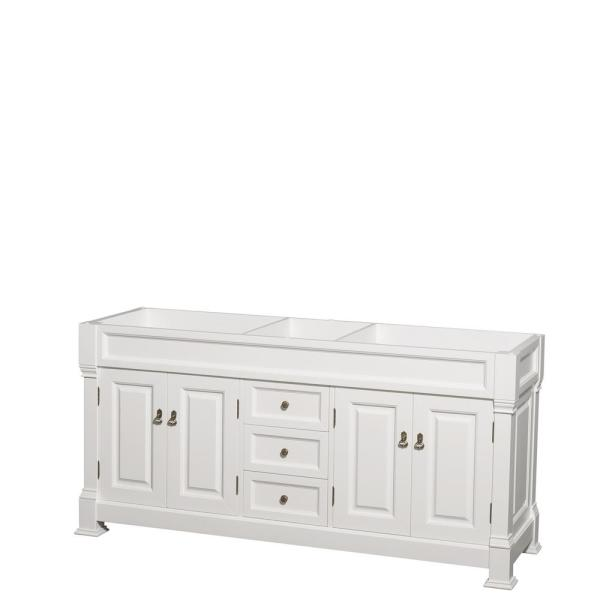Andover 72 in. W x 22.25 in. D Bath Vanity Cabinet Only in White