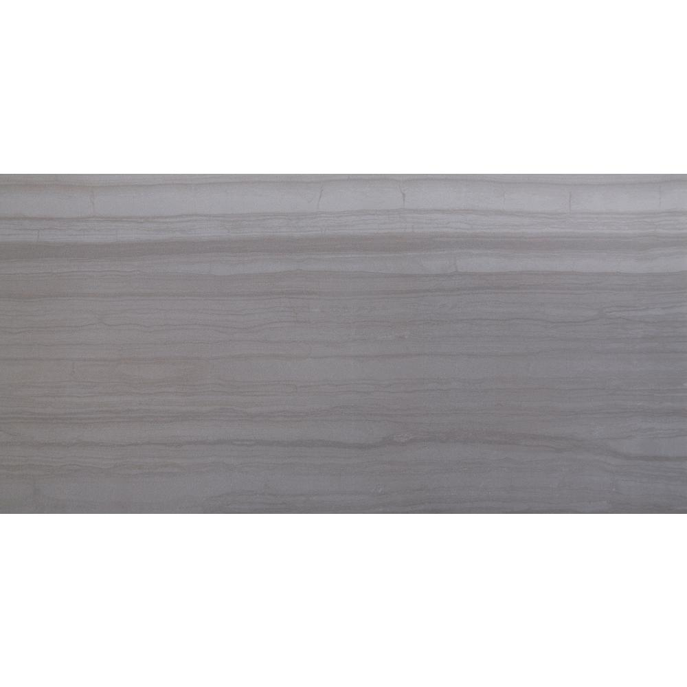 MSI Sophie Gray 12 in. x 24 in. Glazed Porcelain Floor and Wall Tile ...